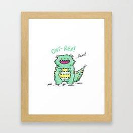 Cat Rex Framed Art Print