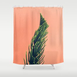 rise and swirl Shower Curtain