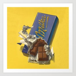 Chocolate Candy Bar Vintage Art Art Print