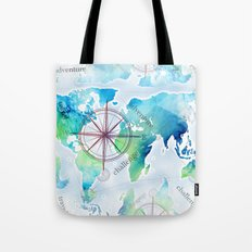 Watercolor map Tote Bag