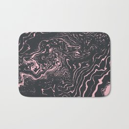 Kagami - spilled ink minimal modern abstract watercolor marble pattern marbling marble phone case Bath Mat
