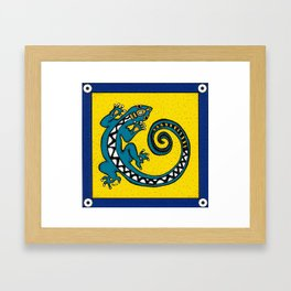 Tribal Gecko Framed Art Print