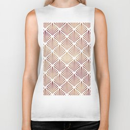 Rose-gold geometric art-deco pattern Biker Tank