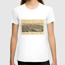 Aerial View of Catskill, New York (1889) T-shirt