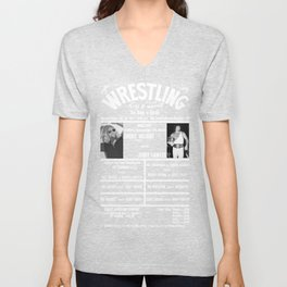 #4-B Memphis Wrestling Window Card Unisex V-Neck