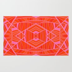Mostly Orange Geo Pattern Rug