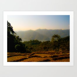 Nepalese valley  Art Print