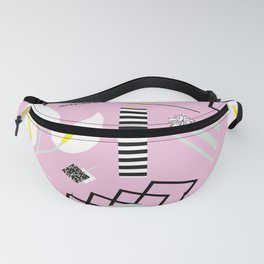 80's Calla Lily Floral Fanny Pack