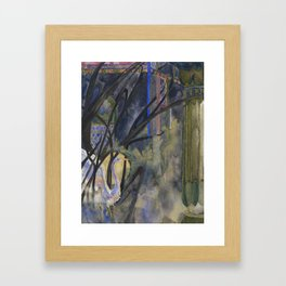 Blue Crane Framed Art Print
