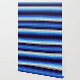 Deconstructed Serape in Blue Wallpaper