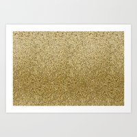 gold glitter Art Prints featuring .::Gold Glitter::. by MartiniWithATwist