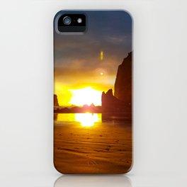 Sunset on Haystack VII iPhone Case