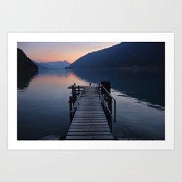 Brienz Lake. Alps. Switzerland Art Print