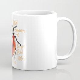 Ladybug scientific anatomy illustration Coffee Mug