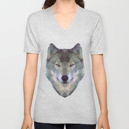 Polygon wolf Unisex V-Neck