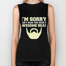 Funny T-Shirt For Bearded Men. Biker Tank