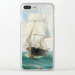 Vintage Swedish Sailboat Painting (1887) Clear iPhone Case