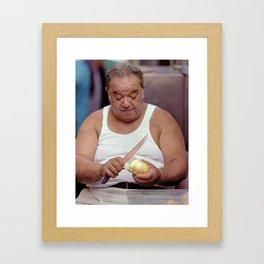 The Onion Man Framed Art Print