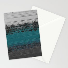 Teal and Gray Abstract Stationery Cards