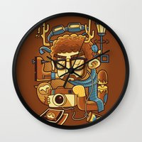 instagram Wall Clocks featuring Instagram by anggatantama