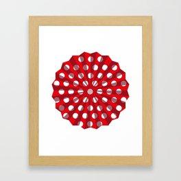 Lantern of white polka dots Framed Art Print