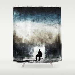 City Thoughts Shower Curtain