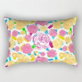 Colourful Floral Print Rectangular Pillow