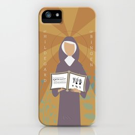 St. Hildegard of Bingen iPhone Case