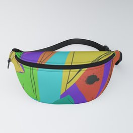 Cages at the Border #Abstract #Geometric #PoliticalArt Fanny Pack