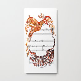 The Tiger and the Phoenix Metal Print