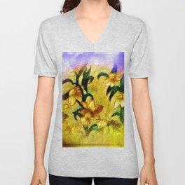 Spring Daffodils Unisex V-Neck