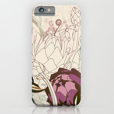 Peach and purple  artichoke Slim Case iPhone 6s