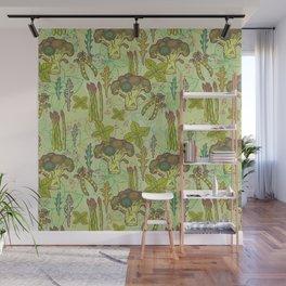 Green vegetables pattern. Wall Mural