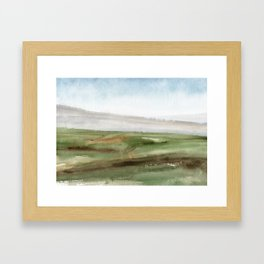 Abstract Watercolor landscape painting of Tuscany Framed Art Print