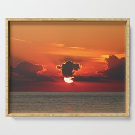 Crepuscular Rays Serving Tray