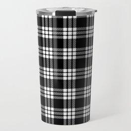 MacFarlane Black + White Tartan Modern Travel Mug