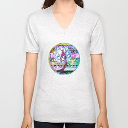 In a Pear Tree Unisex V-Neck