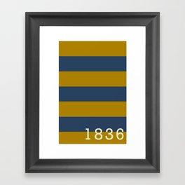 Stripes of Blue and Gold - Emory & Henry College  Framed Art Print