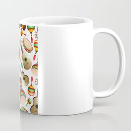 Guitar Maracas Bongo Pattern Coffee Mug