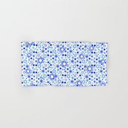 Dynamic Blue Stars of David Pattern Hand & Bath Towel