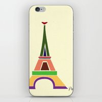 eiffel tower iPhone & iPod Skins featuring Eiffel Tower by Losal Jsk