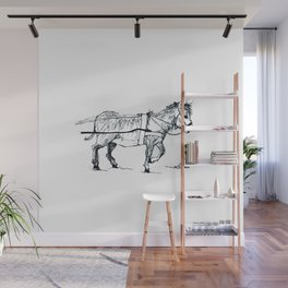 Donkey Cart Wall Mural