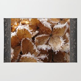 Pee Gee Hydrangea Trimmed with Frost Rug