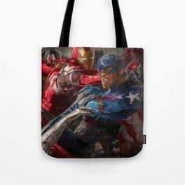 War of superhero Tote Bag