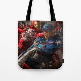 War of superhero Tote Bag