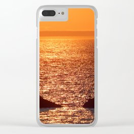 Orange Skies at Sunset Clear iPhone Case