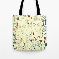 japan Tote Bags featuring Japan by March Hunger