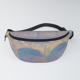 "Claude Monet ""Waterloo bridge"" Fanny Pack"