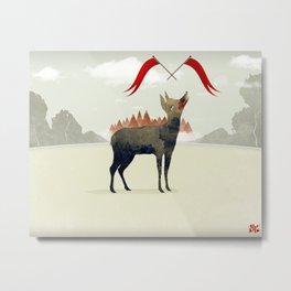 Wood Hyena Metal Print