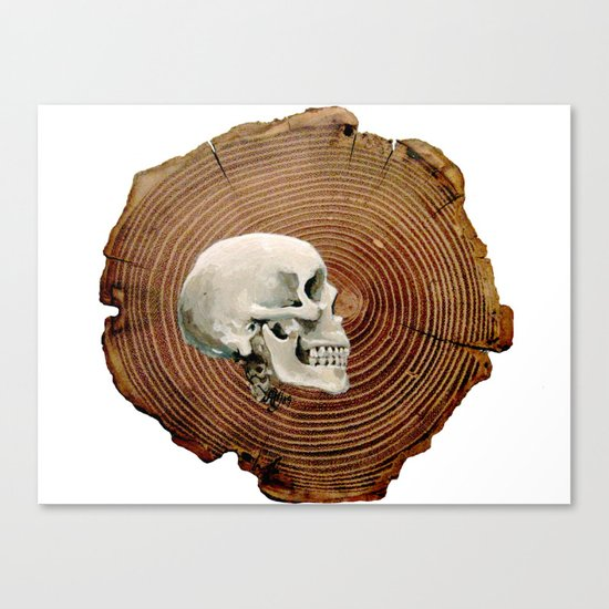 Painted Skull Canvas Print